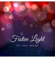 Abstract magic bokeh background vector image vector image