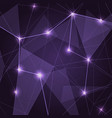abstract purple low poly triangle background vector image vector image