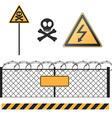 abstract warning signs set vector image