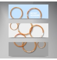 background banner Circles set color shadow vector image vector image