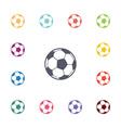 ball flat icons set