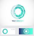 Blue circle logo vector image vector image