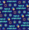 blue gold chanukah pattern vector image vector image