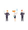 business people set office workers characters vector image