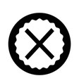 cancel cross icon vector image vector image