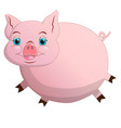 cartoon pink piggy isolated on white vector image vector image