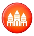 Children house castle icon flat style vector image vector image