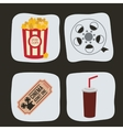 Cinema icons design vector image vector image