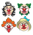 clown face set vector image vector image