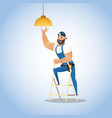 concept electrician service vector image