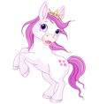Cute horse princess rearing up vector image vector image