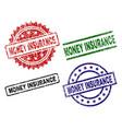 damaged textured money insurance stamp seals vector image