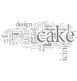design tips for a great kids birthday cake vector image vector image