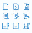 document flat line icon set vector image vector image