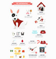 dog infographic vector image vector image