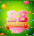 eighty eight years anniversary celebration design vector image vector image
