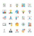 entrepreneurship flat icons set vector image