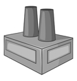 Factory building icon gray monochrome style vector image vector image