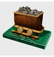 Figure truck with ore symbolic gift to the miner vector image vector image