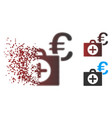 fragmented pixel halftone euro medical payment vector image vector image