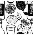 fresh fruits lemonade rosemary seamless pattern vector image vector image