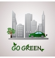 Go green design template Environment vector image vector image