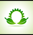 Green energy part icon design concept vector image vector image