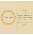 Greeting card or invitation design in warm colors vector image vector image