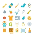 Handmade hobby activities flat icons vector image