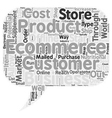 How To Start A Business Through Ecommerce text vector image vector image