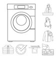 isolated object of laundry and clean icon set of vector image vector image