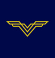 letter v initial logo vector image