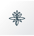lily icon line symbol premium quality isolated vector image vector image