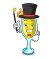 magician mimosa mascot cartoon style vector image vector image