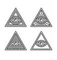 masonic illuminati symbols eye in triangle sign