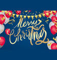 merry christmas text on background lettering for vector image vector image