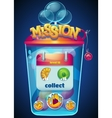 mission collect window vector image vector image