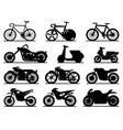 motorbike black silhouettes motorcycles vector image