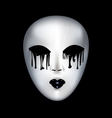 mysterious white mask vector image vector image