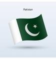 Pakistan flag waving form