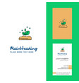 plant creative logo and business card vertical vector image vector image