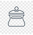 pot concept linear icon isolated on transparent vector image