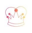 queen crown in degraded magenta to yellow color vector image vector image