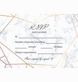 rsvp geometric design card template vector image vector image