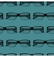 seamless pattern with engraving eye glasses vector image