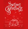 seasons greetings card vector image vector image