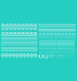 set horizontal lace borders and edges vector image vector image