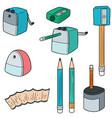 set of pencil sharpener vector image vector image