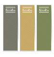 set of three simple and clean graphic banners vector image