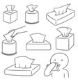 set of tissue box vector image